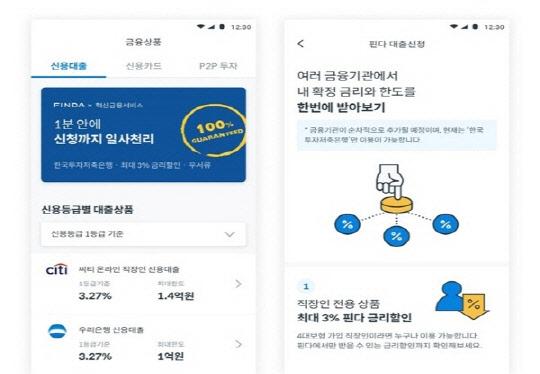 한국투자저축은행, 핀다와 함께`혁신금융서비스` 출시